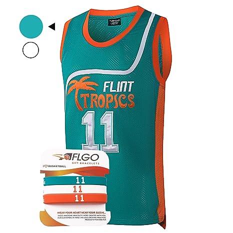 Amazon.com   AFLGO Monix  11 Flint Tropics Basketball Jersey S-XXXL ... e8fdbe6a3