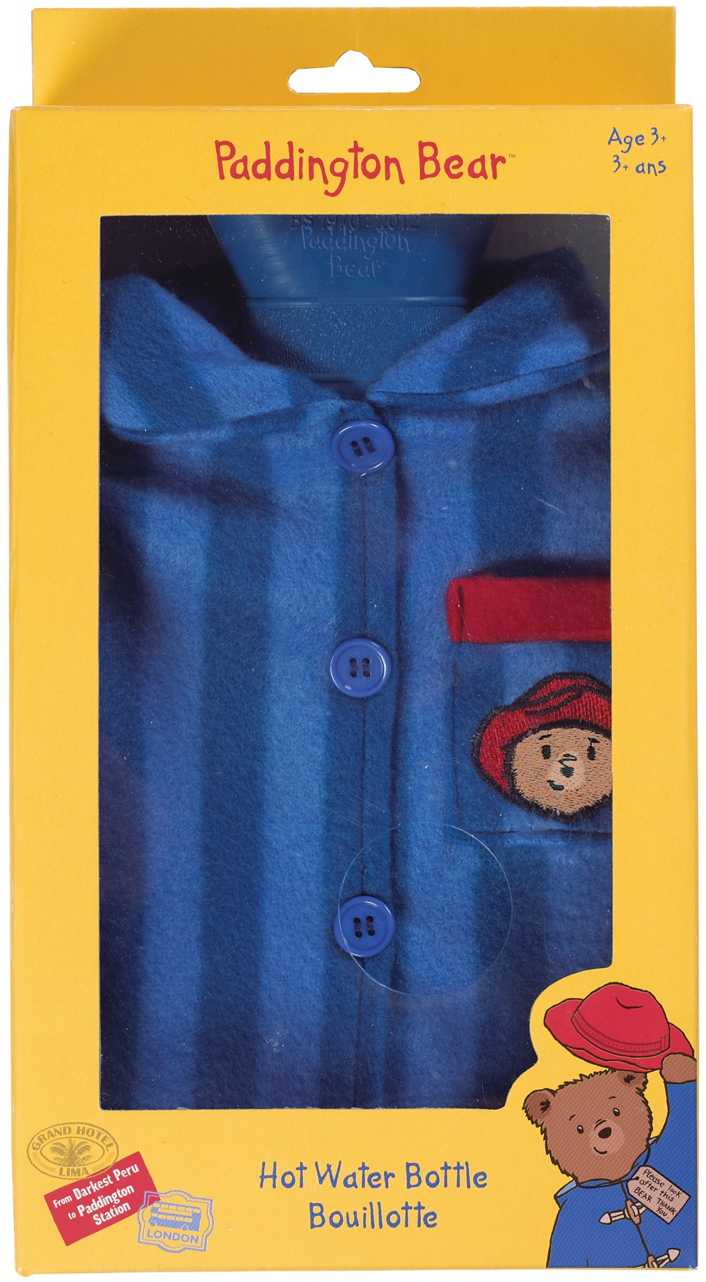 Paddington Bear by Upper Canada Child's Hot Water Bottle, Blue by Upper Canada Soap