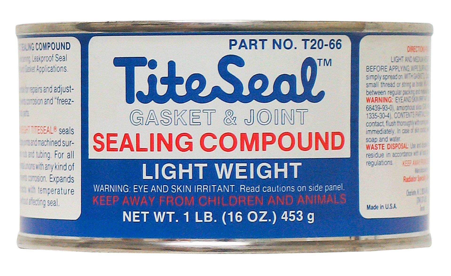 TITESEAL by GUNK  T2066-12PK Light Weight Sealing Compound - 1 lb., (Case of 12)