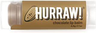 product image for Hurraw! Chocolate Lip Balm, 4.8g/.17oz: Organic, Certified Vegan, Cruelty and Gluten Free. Non-GMO, 100% Natural Ingredients. Bee, Shea, Soy and Palm Free. Made in USA