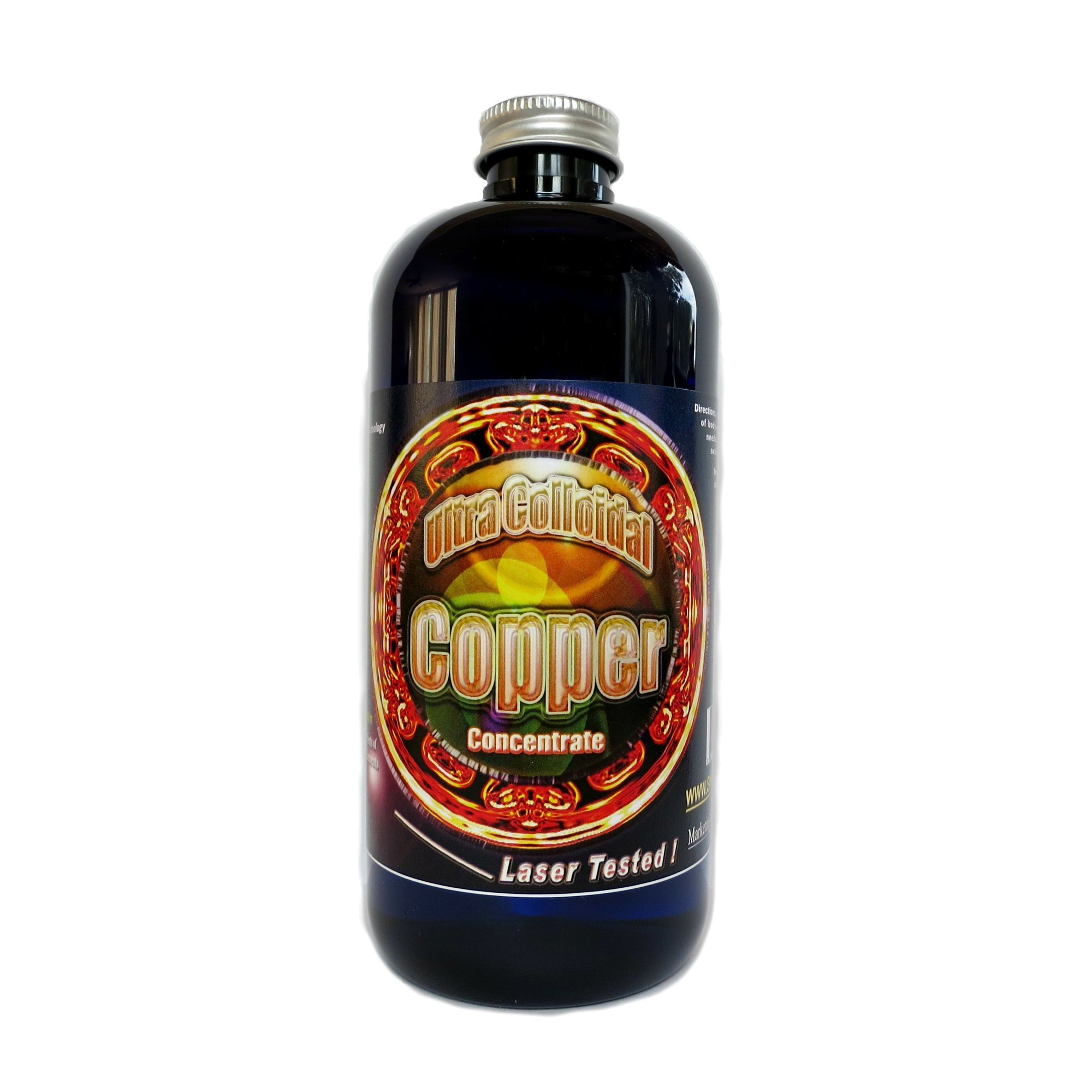 Colloidal Copper Ultra 100 ppm, 16 Oz, Silver Mountain Minerals ( Medical purity, highest bioavailability)
