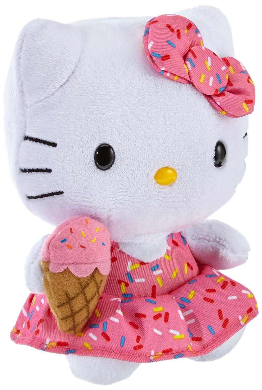 Hello Kitty - Plüschfigur mit Eiscreme