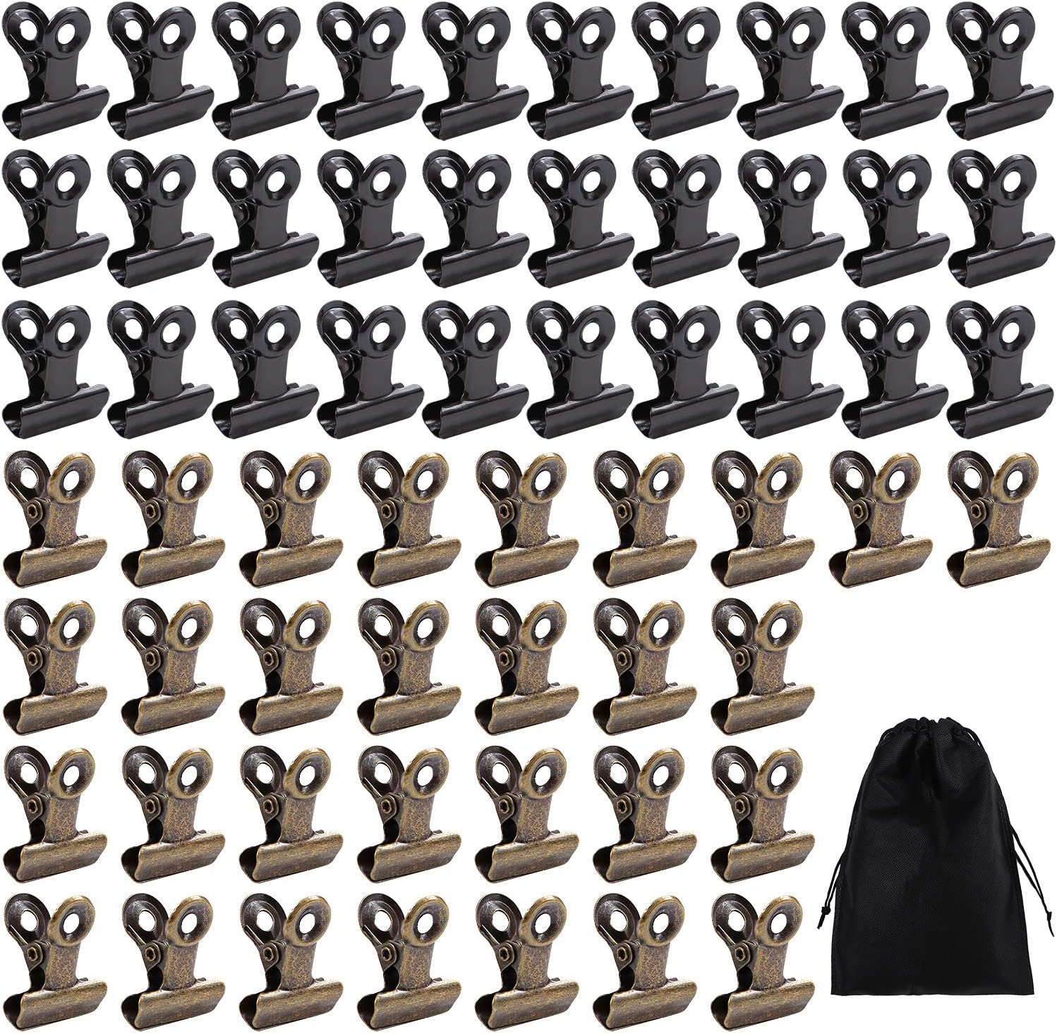 Aneco 120 Pieces Bulldog Clips 1 Inch Mini Metal Binder Clips Photo Clips for Home and Office Supplies
