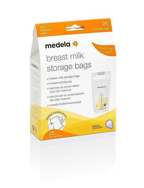 Medela 80404 - Bolsas de almacenamiento para conservar y congelar leche materna Medela, 25 unidades