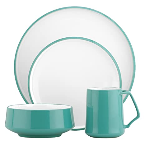 DANSK Kobenstyle 4-Piece Place Setting Teal  sc 1 st  Amazon.com & Amazon.com: DANSK Kobenstyle 4-Piece Place Setting Teal: Dinnerware ...