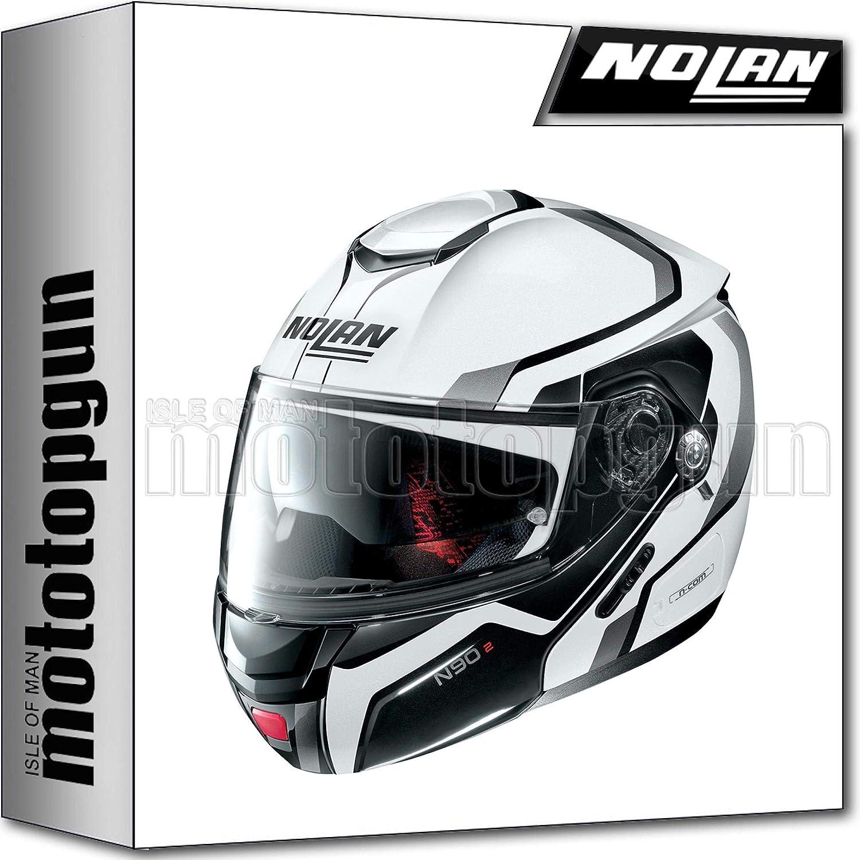 L NOLAN MOTORRAD KLAPPHELM N90-2 MERIDIA NUS METAL WEISS 031 SZ