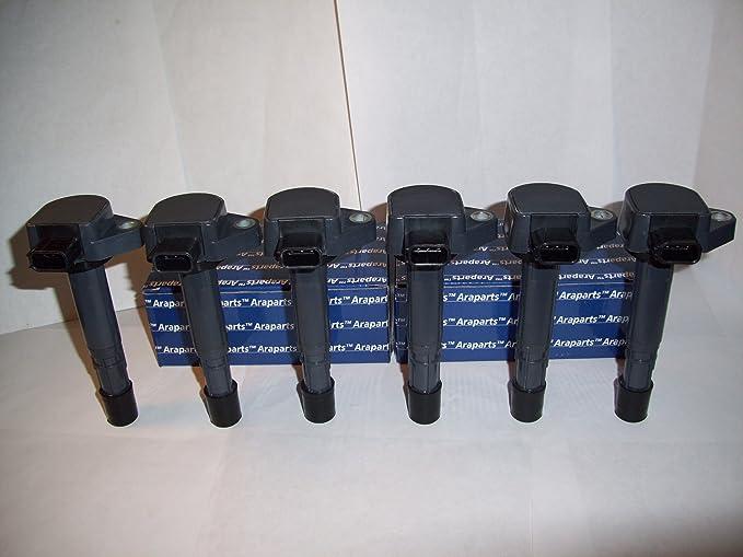 Amazon.com: Ignition Coils For Honda Pilot Ridgeline Acura MDX 3.5L V6 6 Piece Kit Set Pack: Automotive