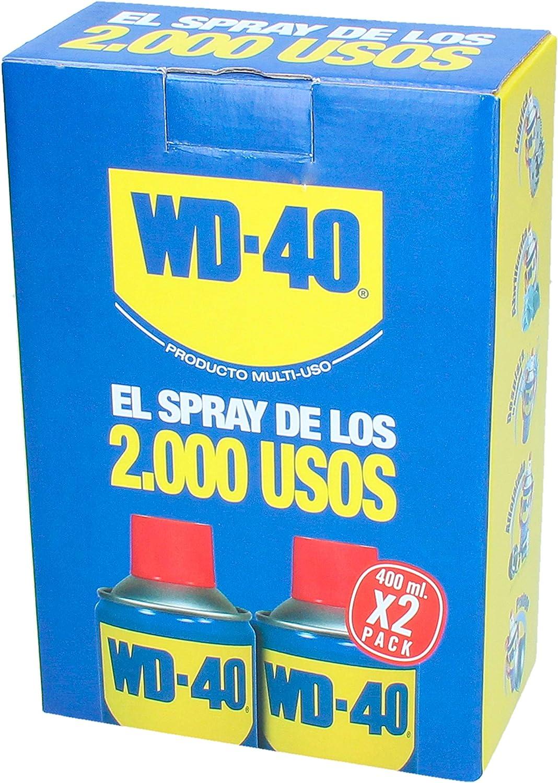 WD 40 34004x2 34104-pack 2 Spray Multiuso (lubricante, aflojatodo, dieléctrico, 400 ml), 400ml: Amazon.es: Bricolaje y herramientas