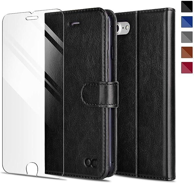 16 opinioni per OCASE Cover iPhone 7, Custodia iPhone 8 Interno TPU Antiurto Portafoglio,