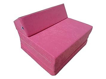 Natalia Spzoo El sillón de colchón Plegable para Invitados con Forma de sillón sofá Cama Plegable con colchón de la Cama, Pink-1227: Amazon.es: Hogar