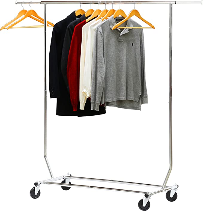 Amazon.com: Simple Houseware Supreme Commercial Grade Clothing Garment Rack, Chrome: Home & Kitchen