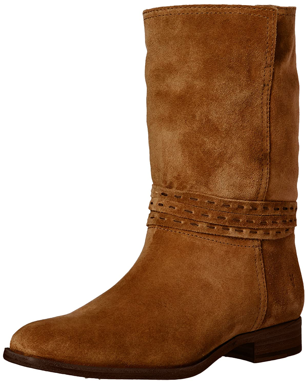 FRYE Women's Cara Pickstitch Mid Boot B01H4X86LU 7.5 B(M) US|Chestnut