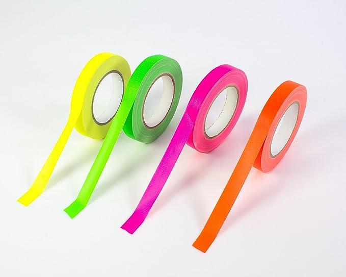 PA-WORLD Ne/ón Gaffa Tape Cinta Adhesiva Activa UV 50mm X 25m Fucsia