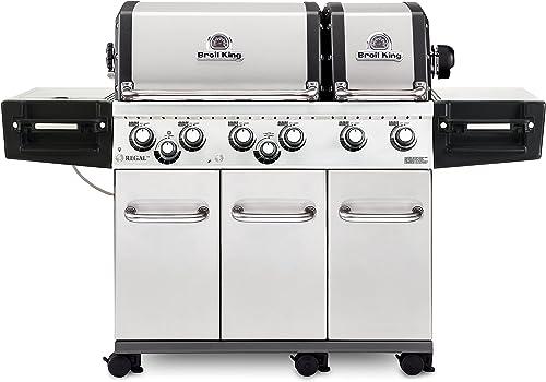 Broil King 957344 Regal XLS Pro LP Gas Grill, Six-Burner, Stainless Steel