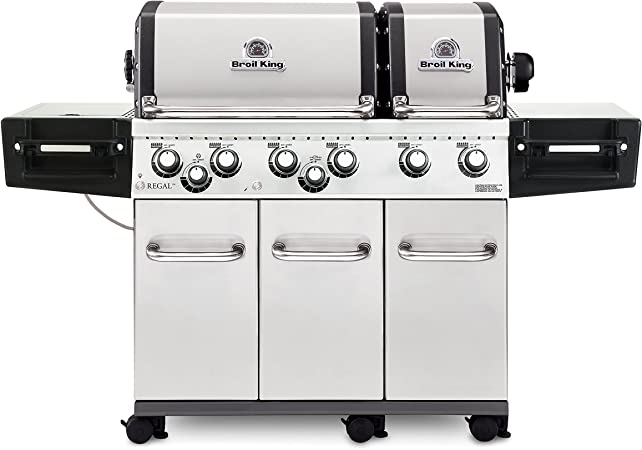 Amazon Com Broil King 957344 Regal Xls Pro Lp Gas Grill Six Burner Stainless Steel Garden Outdoor