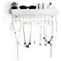 JackCubeDesign Hanging Jewelry Organizer Necklace Hanger Bracelet Holder