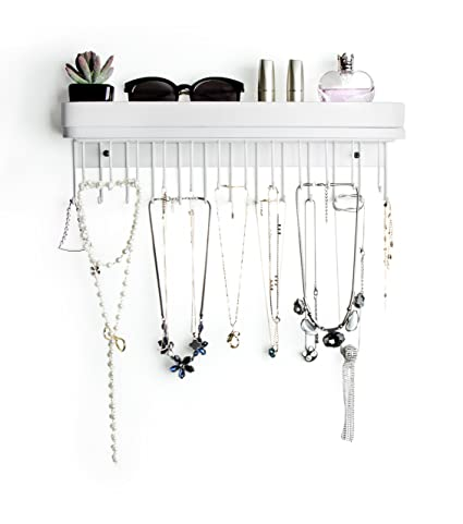 Amazoncom JackCubeDesign Hanging Jewelry Organizer Necklace Hanger