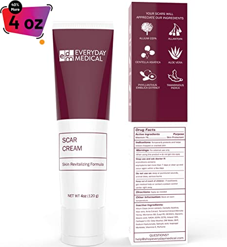 Amazon Com Everyday Medical Surgical Scar Removal Cream For Skin