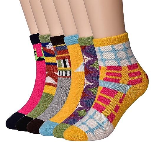 Amazon.com  6 Pairs Womens Thick Merino Wool Socks 487e7d1a3a