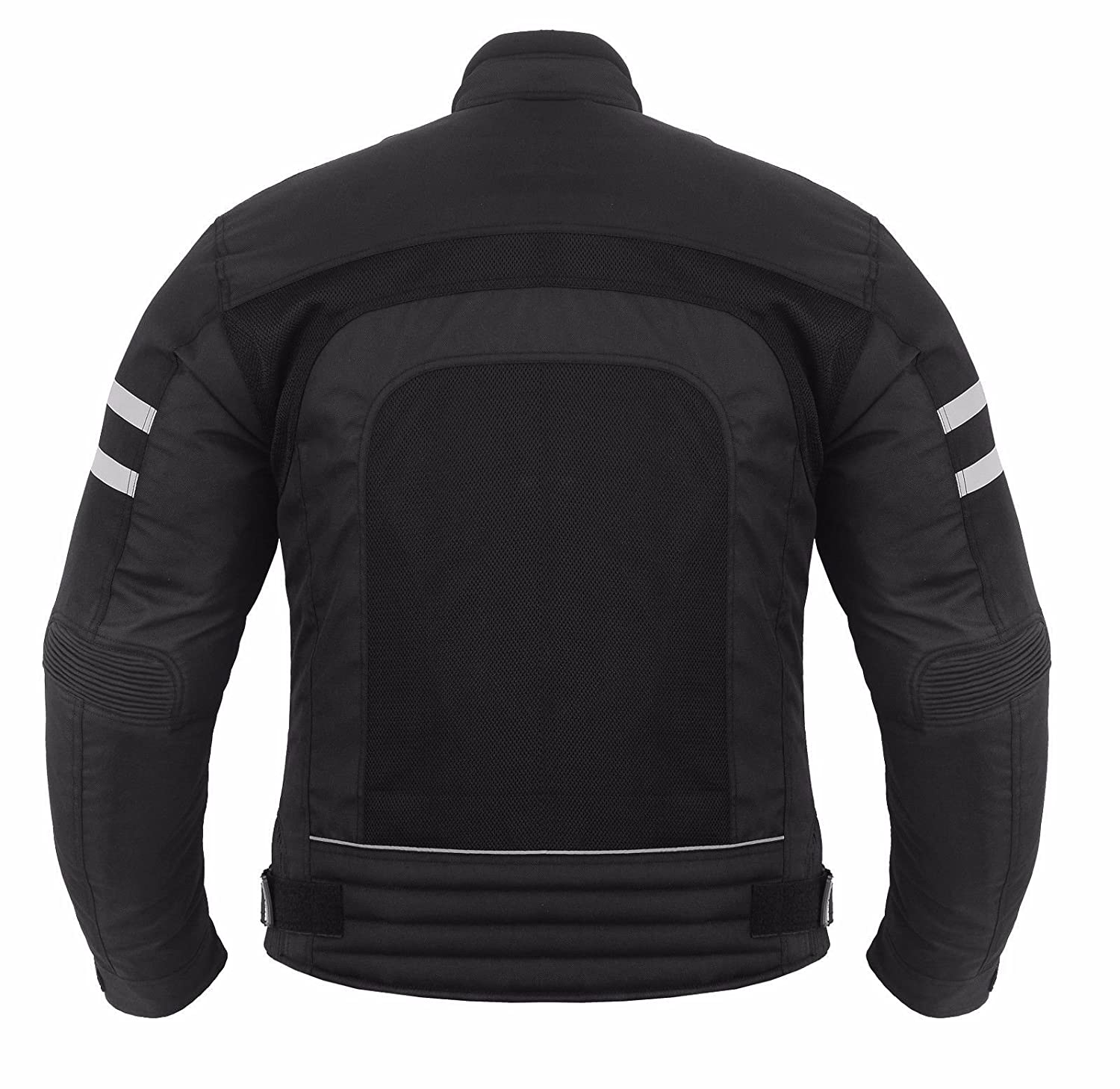 Motorbike Motorcycle Summer Jacket Hot Weather Gears Coats Cordura Fabric CE Approved Armoured Full Black