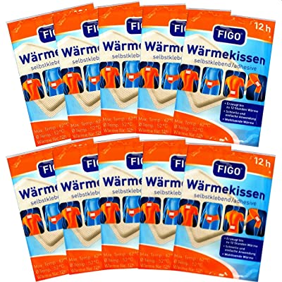 FAIRWARE-direkt ® de 10 à hamster fIGO coussin chauffant wärmepflaster autocollant 12 x, des douleurs