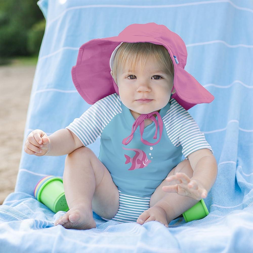 24504d696 Baby Girls Rashguard Set with Reusable Swim Diaper