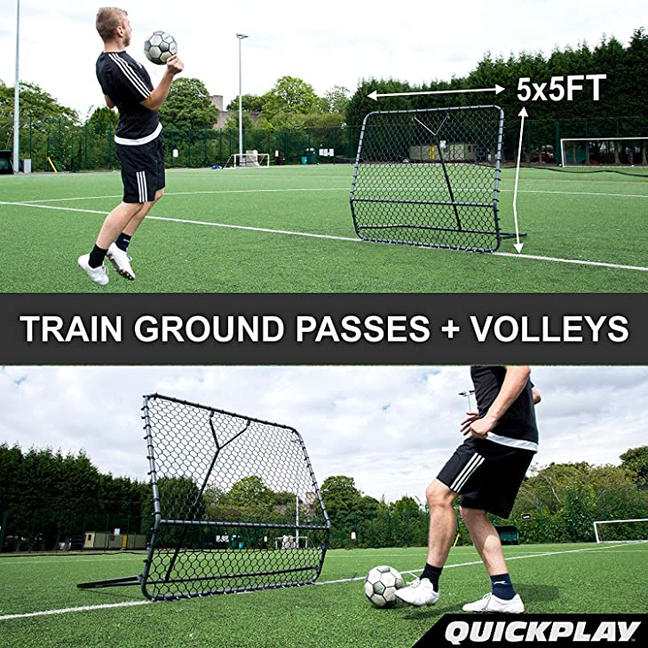QuickPlay PRO Rebounder – Adjustable Angle Multi-Sport Trainer | Soccer Rebounder or Baseball & Softball Pitch Back