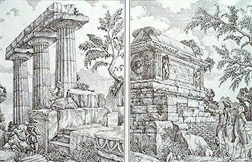 Decoupage Decopatch Soft Papier Bogen Griechisch Antik Landschaftsmotive 48x68