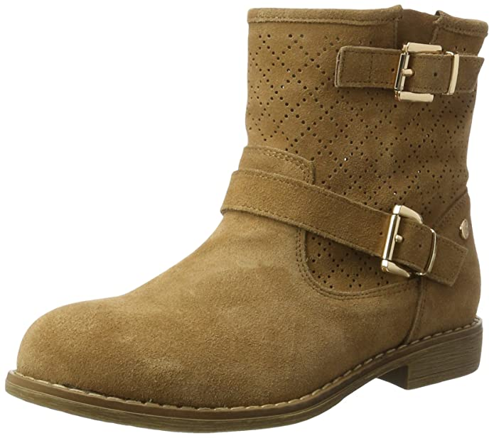 XTI Suede Ladies Ankle Boots, Náuticos para Mujer, Beige (Camel Camel), 36 EU