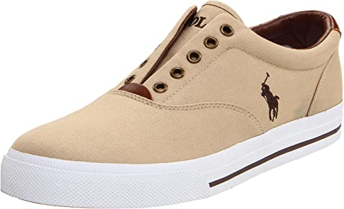 Ralph Lauren Vito Slip-On Khaki Mens Trainers Size 44 EU: Amazon ...