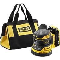 Stanley Fatmax FMCW220D1-QW Ponceuse Excentrique 125mm sans Fil 18V Batterie 2Ah et Sac de Rangement