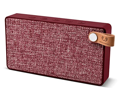 Fresh n Rebel Rockbox Slice - Altavoz Bluetooth Inalámbrico Portátil Rojo