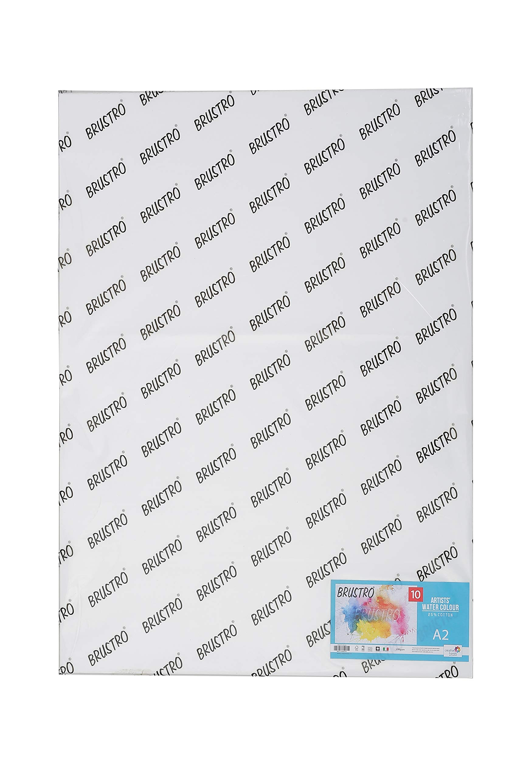 Brustro Artists' Watercolour Paper 25% Cotton Cold Pressed 300 GSM, Size - A2, 10 Sheets product image