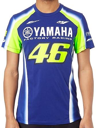 Valentino Rossi Yamaha T Shirt Vr46 Racing Blau Gelb Valentino