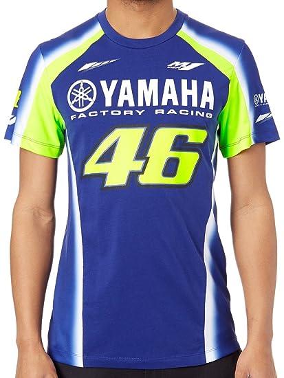 Valentino Rossi Camiseta Yamaha VR46 Racing Azul-Amarillo: Amazon.es: Ropa y accesorios