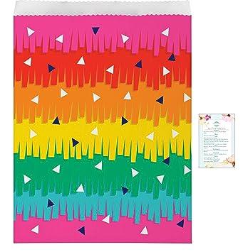 Amazon.com: 30 bolsas de papel Fiesta Pinata (con lista de ...