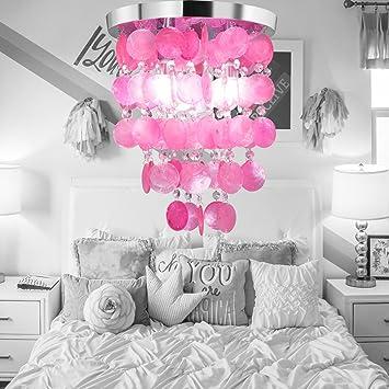 HAIXIANG Girl\'s Bedroom Crystal Shell Pendant Lamp Chandelier ...