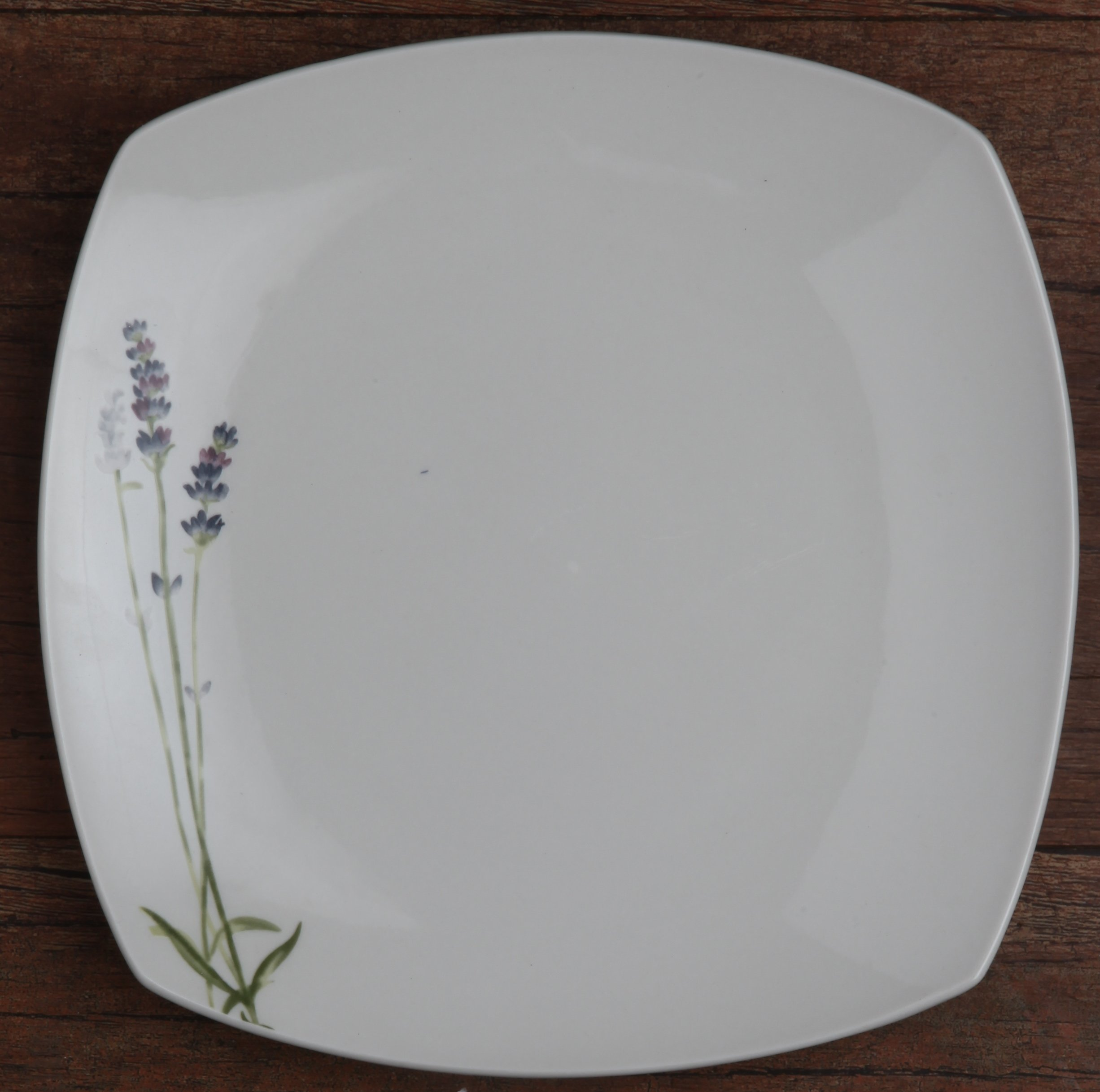 Melange Square 32-Piece Porcelain Dinnerware Set (Lavender) | Service for 8 | Microwave, Dishwasher & Oven Safe | Dinner Plate, Salad Plate, Soup Bowl & Mug (8 Each) by Melange (Image #2)