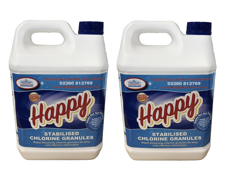 Happy Hot Tubs Quality Chlorine Granules 5kg Hot Tub Spa Swimming ...