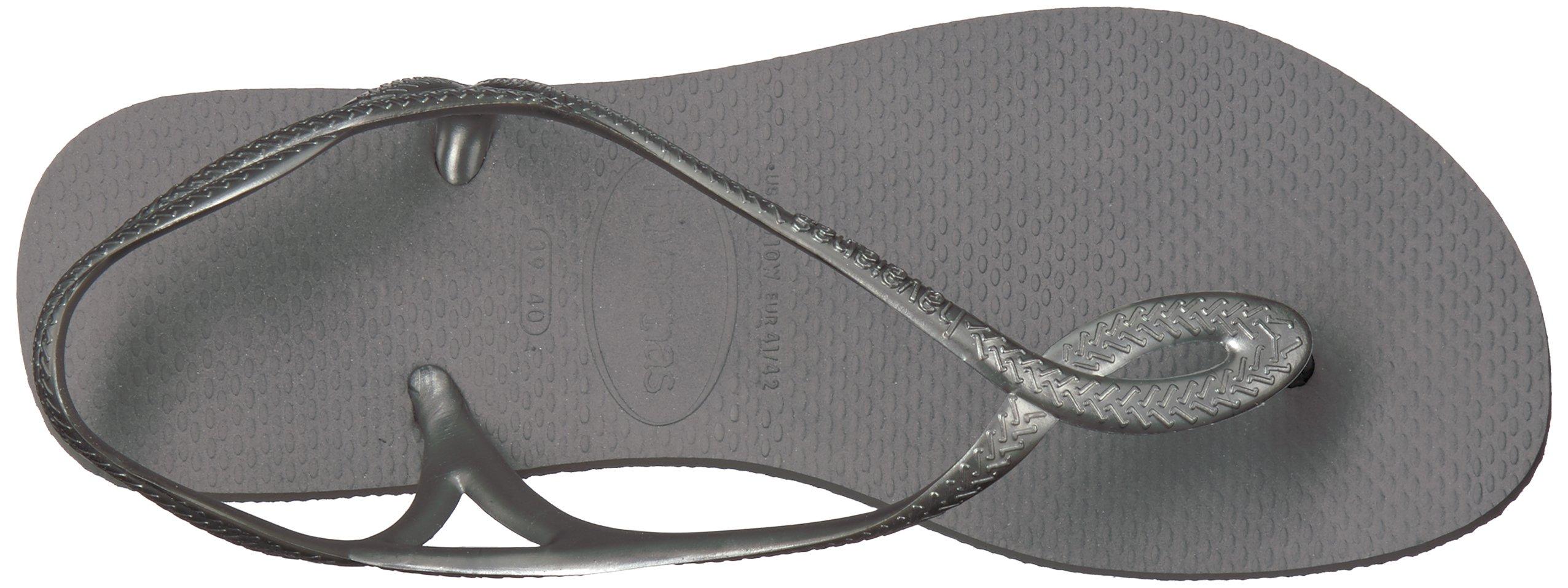 Havaianas Kids' Luna Flip Flop Around Ankle Straps, Roman Sandal, Steel Grey by Havaianas (Image #8)