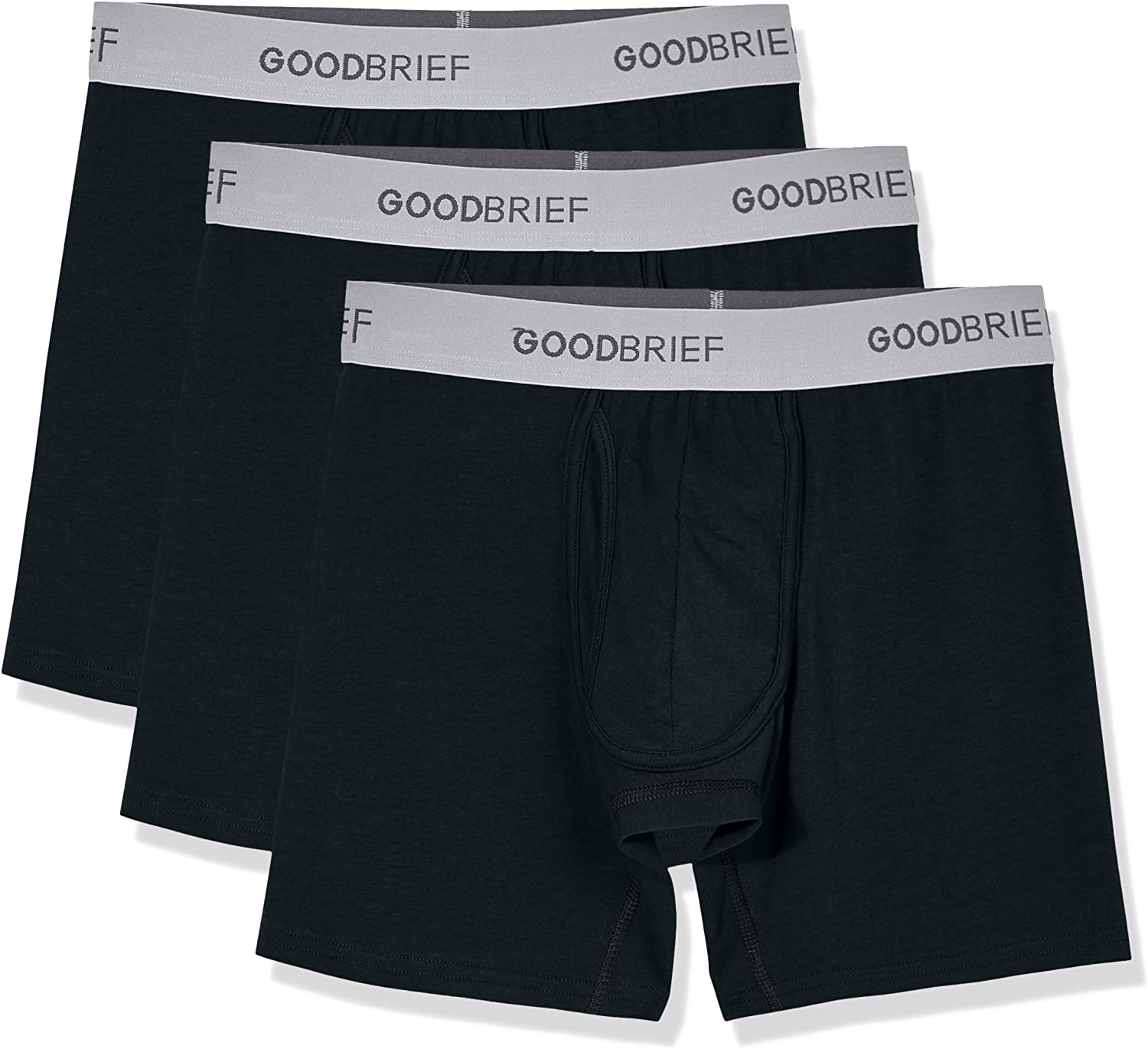 3-Pack//4-Pack//5-Pack Good Brief Mens Cotton Stretch Classic Fit Boxer Briefs