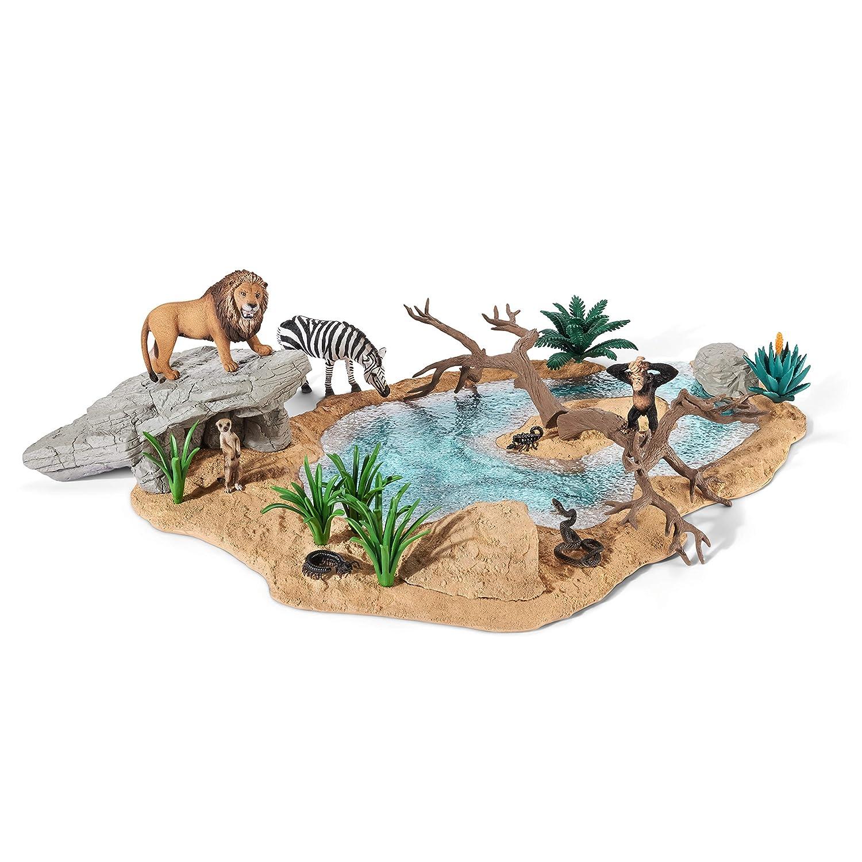 シュライヒ ワイルドライフ 動物達の水飲み場セット フィギュア 42258 B00QVYZ5WM