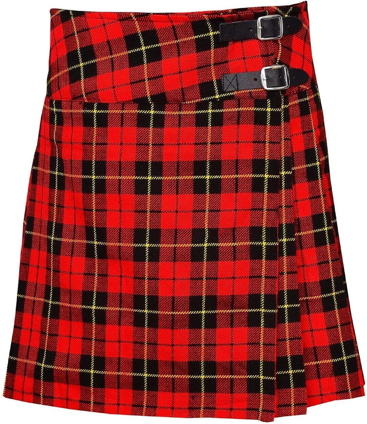 SHYNE/_ENTERPRISES Ladies Knee Length Kilt Skirt 20 Length Tartan Pleated Kilts Wallace