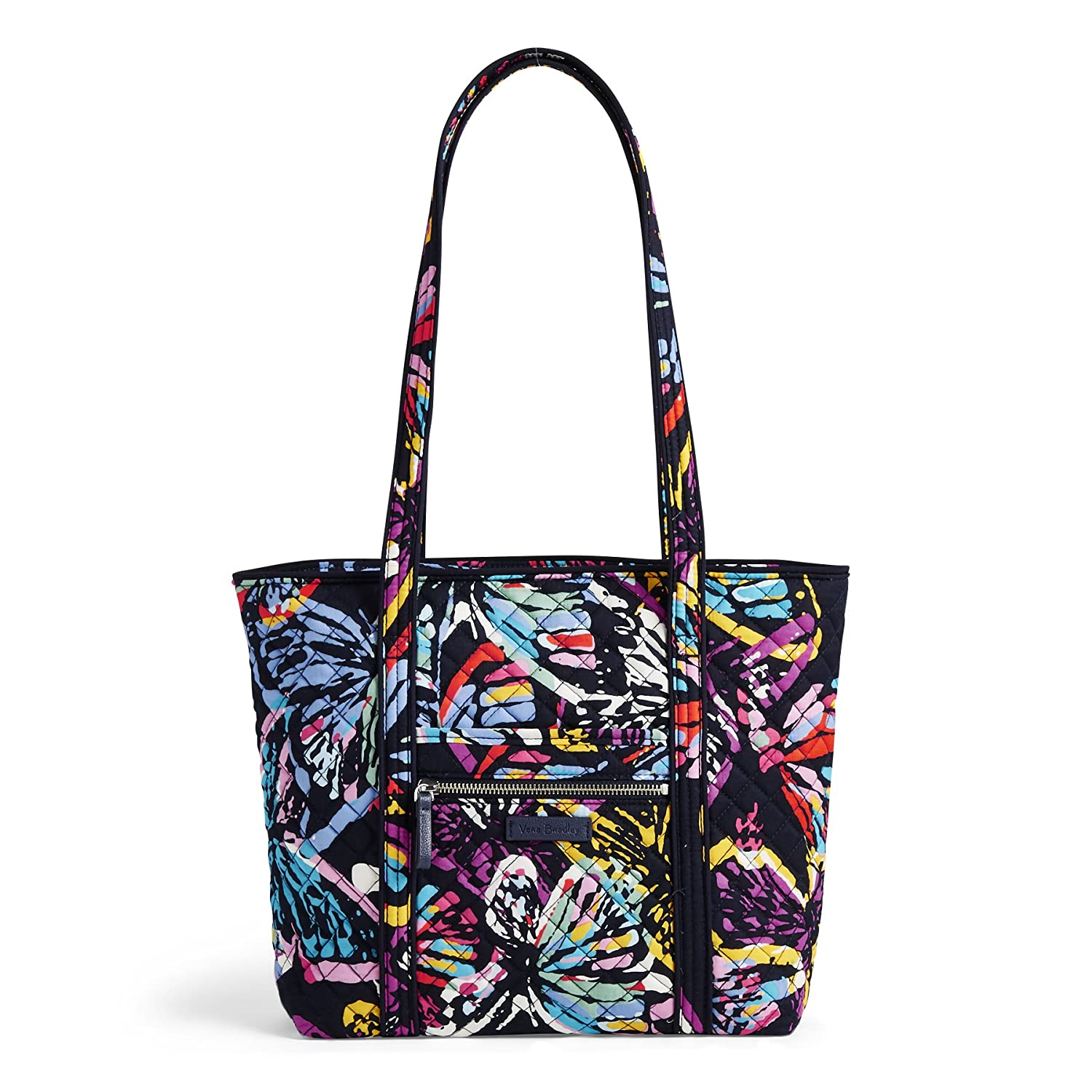 6e9435a8588 Amazon.com  Vera Bradley Iconic Small Vera Tote, Signature Cotton,  Butterfly Flutter  Clothing