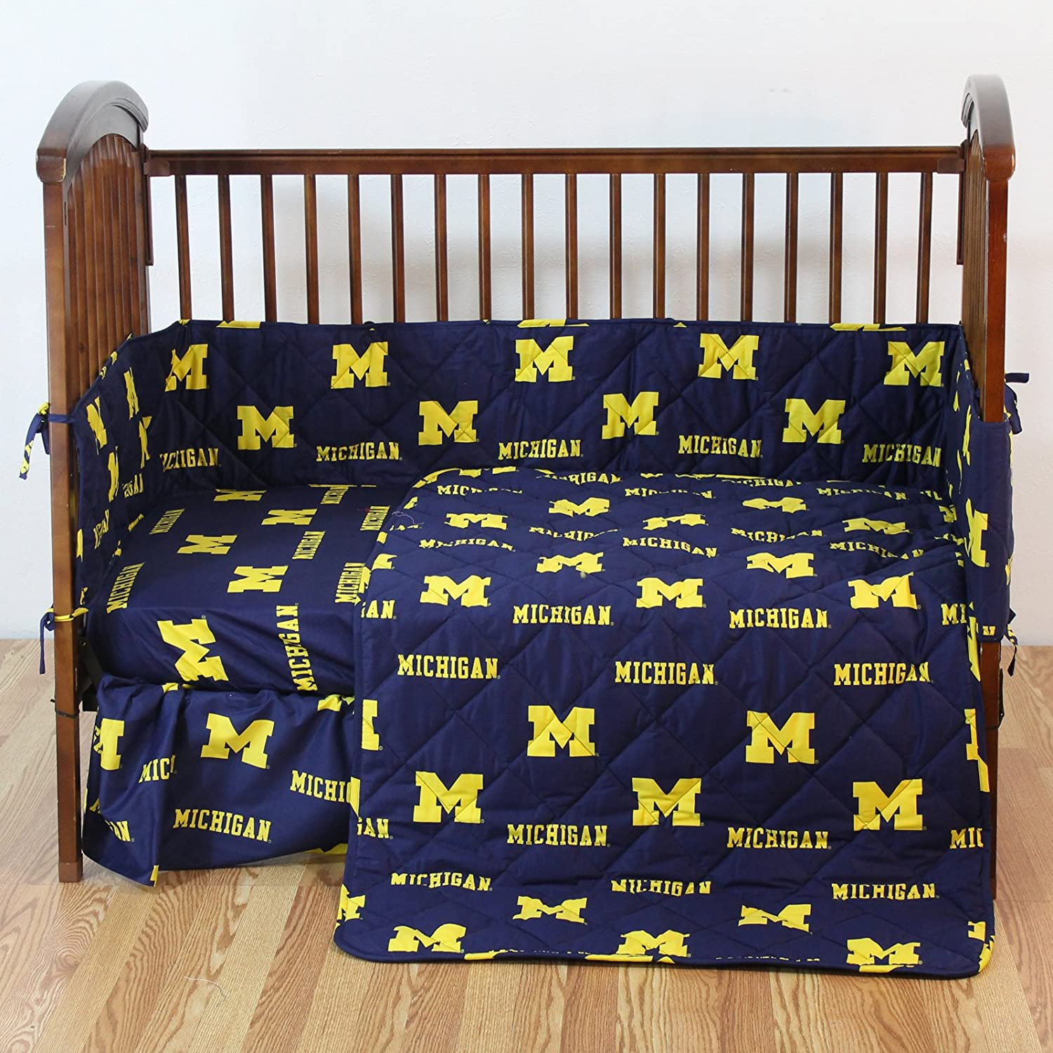 Amazon College Covers Michigan Wolverines 5 Piece Baby Crib Set