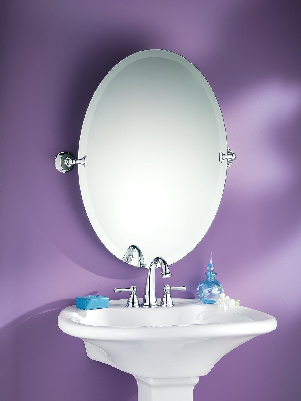 Amazon.com: Moen DN2692CH Glenshire Bathroom Oval Tilting Mirror, Chrome:  Home Improvement