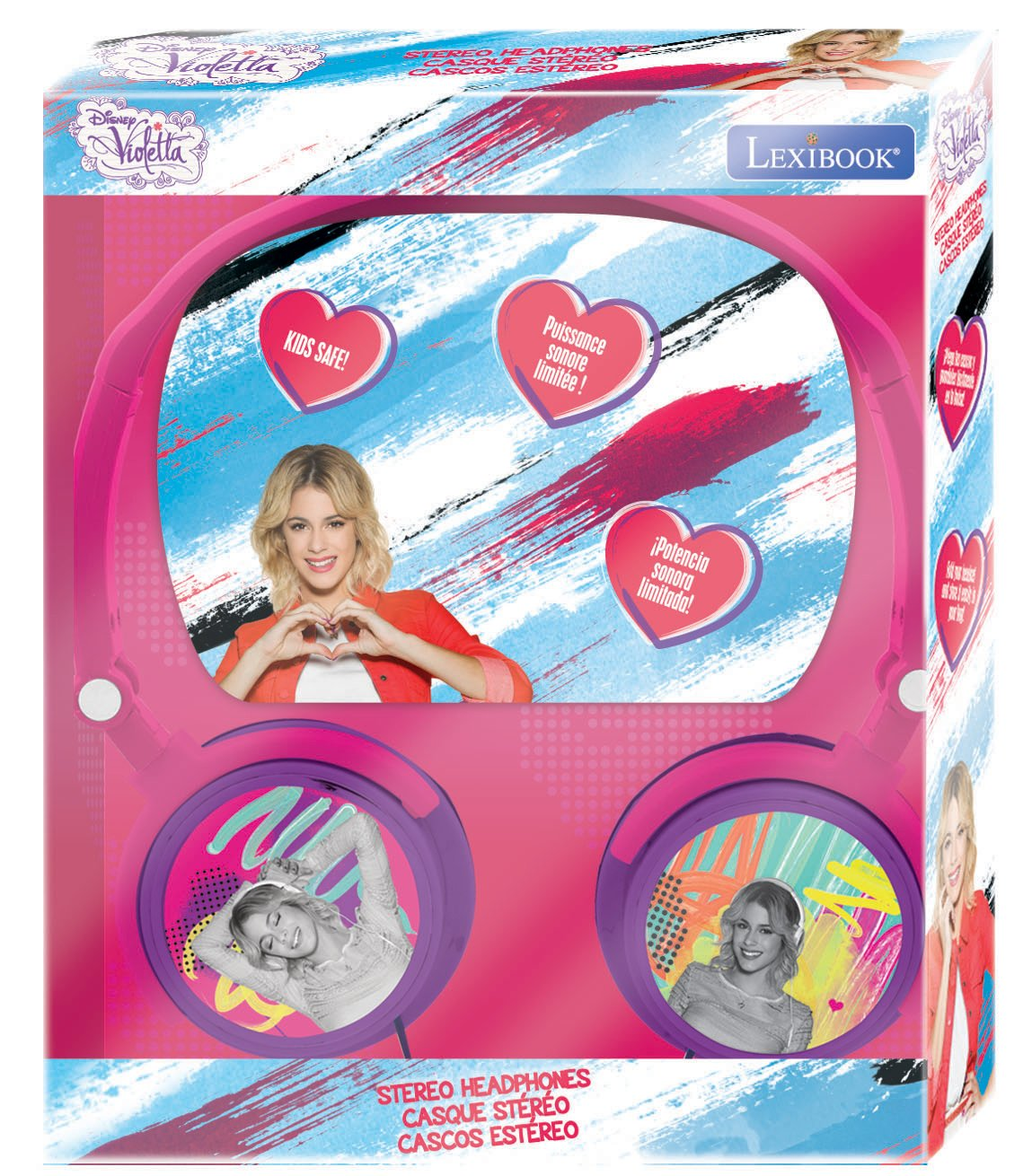 LEXiBOOK Disney Violetta Stereo Headphone, Kids Safe, Foldable and Adjustable, Pink / Purple, HP010VI by LEXiBOOK (Image #4)