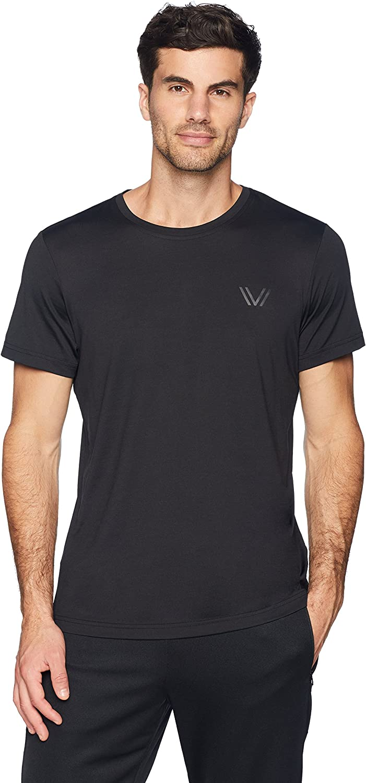 Brand Peak Velocity Mens Aeros Performance Short Sleeve Quick-dry Athletic-Fit T-Shirt