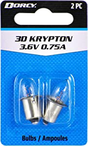 Dorcy 3D-3.6-Volt, 0.75A Flange Base Krypton Replacement Bulb, 2-Pack (41-1661)