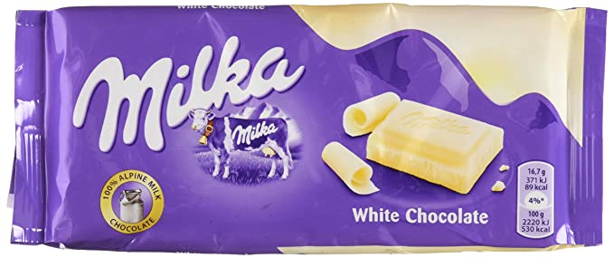Milka - Tableta de chocolate blanco 100gr